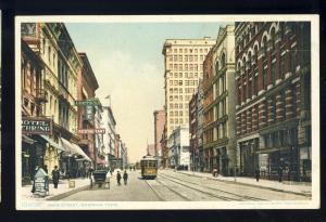 Memphis, Tennessee/TN Postcard, Main Street, Trolley/Horse & Buggy