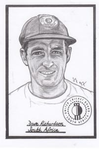 Dave Richardson South Africa Cricket Artist Drawing Limited Edn of 500 Postcard