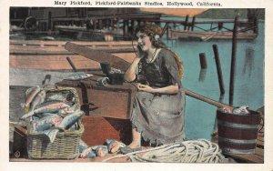 Mary Pickford, Pickford-Fairbanks Studios, Hollywood, CA, Early Postcard, Unused