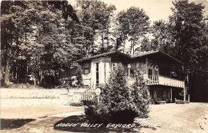 A90/ Gaylord Michigan Mi Real Photo RPPC Postcard c50s Hidden Valley Home Cabin