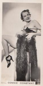 Connie Constant Hollywood Actress Rare Real Photo Cigarette Card