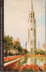 Tower Of The Sun San Francisco CA 1940 Exposition UNUSED Linen Postcard E50