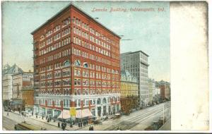 USA, Lemcke Building, Indianapolis, Indiana, 1909 used Postcard