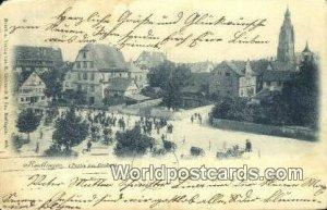 Partie am Graben Teutlingen Germany Postal Used Unknown, Missing Stamp