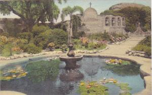 Front Garden and Old Pepper Tree Old Mission San Juan Capistrano California H...