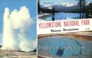 Yellowstone National Pak, WY, USA Large Letter Town Postcard Post Card Old Vi...