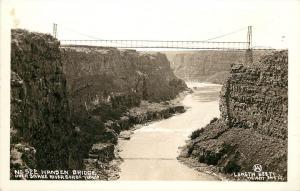 W.Andrews RPPC No.522 Hansen Bridge over Snake River Gorge ID near Twin Falls ID