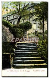 Old Postcard St. Odilienberg Klostertreppe Mont Sainte Odile