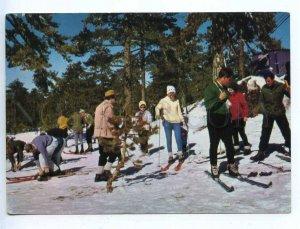 219033 CYPRUS Winter Sports on snow covered Trodos ski