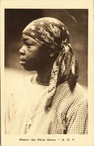 French West Africa, Native Girl Facial Scarification (1920s) Mission Postcard I