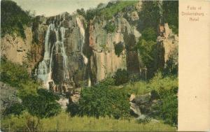 Falls Drakensburg 1910 South Africa Postcard Natal Rittenburg 4654