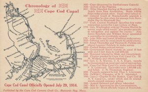 CAPE COD, Massachusetts, 1910s; Chronology of Cape Cod Canal