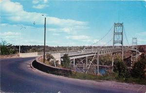 Bucksport Maine~Waldo-Hancock Bridge~Western Approach~1950s Cars~Postcard