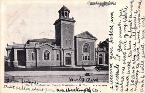 C3/ Martinsburg West Virginia WV Postcard 1906 Presbyterian Church