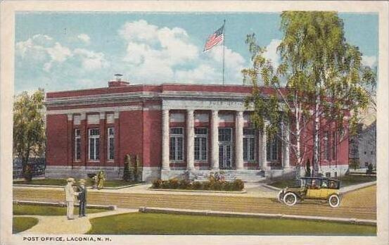 New Hamphire Laconia Post Office 1920