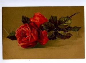 148916 Red ROSES By C. KLEIN vintage russian PC