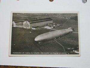 Postcard LZ 127 Graf Zeppelin Airship Handstamped Friedrichshafen