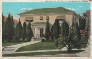 HOLLYWOOD, California, 1910s; Residence of May McAvoy