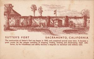Sutter's Fort, SACRAMENTO, California, 1948
