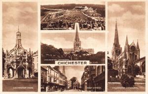 Chichester multi views Postcard
