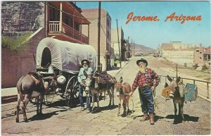 VTG Old prospectors at the ghost City of Jerome, Arizona