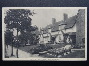 Cheshire Wirral PORT SUNLIGHT Cottages - Old Postcard