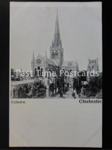 c1902 - Chichester Cathedral - Undivided Back