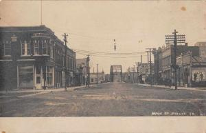 Greene Iowa Main Street Real Photo Antique Postcard J59342