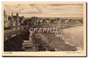 Le Havre - Bd Albert I - Old Postcard
