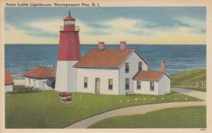 NARRAGENSETT PIER , Rhode Island , 30-40s ; Point Judith Lighthouse