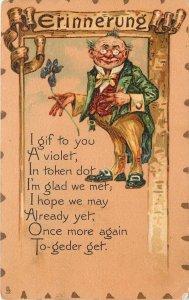 Valentine~Token Reminder~Man Hopes~Gif To You A Violet~TUCK Leatherette Ser 114