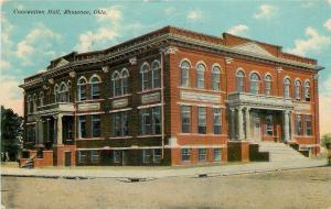 Shawnee Oklahoma~Convention Hall~Beaux Arts Architecture 1911 Postcard