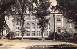 Waverly Iowa~Art Deco Luther Hall @ Wartburg College RPPC 1933 Postcard