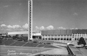 RPPC Stadion - Helsinki - Helsingfors Finland ca 1940s Vintage Postcard