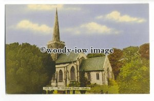 cu2480 - St. Nicholas Church & Cemetery surrounded by Trees, Ulceby  - Postcard