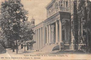 Lexington Virginia W and L University Tucker Memorial Hall Postcard J77722