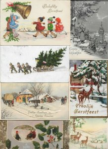 Merry Christmas Kids Snow Sled Animals and more Postcard Lot of 20 01.16