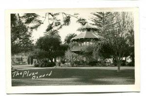 Vintage Postcard RPPC Real Photo THE PLAZA OXNARD CA Pagoda-like Tower unused