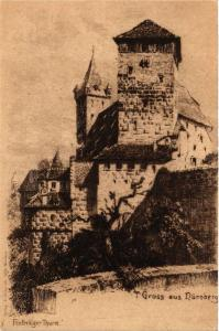 CPA AK Nürnberg Fünfeckiger Turm GERMANY (645135)