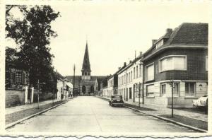 belgium, BEVEREN-WAAS, Kasteeldreef met Kerk, Car (1950s)