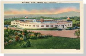Martinsville, Virginia/VA Postcard,Swimming Pool, Near Mint!
