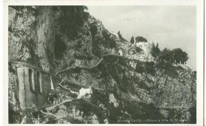 Italy, Capri, Chiesa e Villa S. Michele, unused real photo