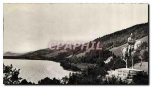 Old Postcard Laffrey Lake Statue of Napoleon