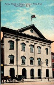 Vtg 1910s Ford Theatre Where Abraham Lincoln Was Shot Washington DC Postcard