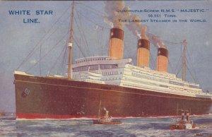 WHITE STAR Ocean Liner R.M.S. MAJESTIC , 1910s