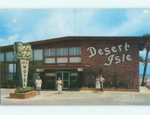 Pre-1980 DESERT ISLE MOTEL Daytona Beach Florida FL s8523