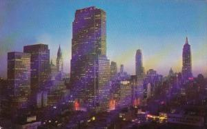 New York City Midtown Manhattan At Night