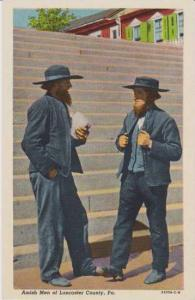 Amish Men in Traditional Dress, Lancaster County, Pennslyvania,  Dutch Countr...