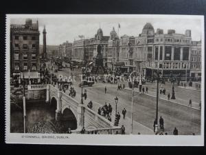 Ireland DUBLIN O'Connell Bridge - Old Postcard by Woolstone Bros Milton Series