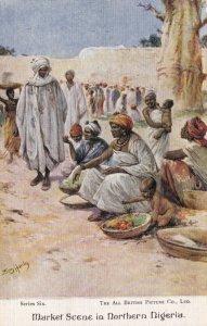 Nigeria Typical Market Scene In Northern Nigeria sk1899a